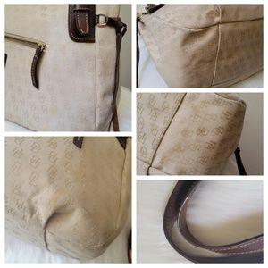 Dooney & Bourke Bags - Dooney & Bourke Large Canvas Hobo Bucket Purse
